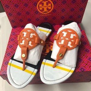 Spring Orange & White Miller Sandal Flip Flops